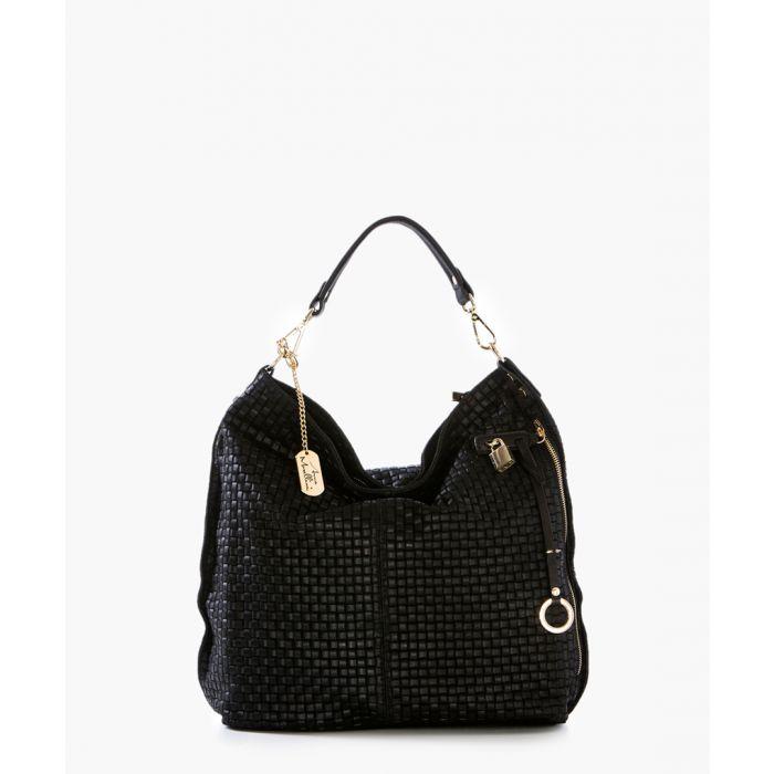 Image for Caroline black leather shoulder bag