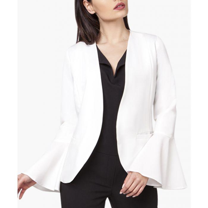 Image for Ecru woven blazer