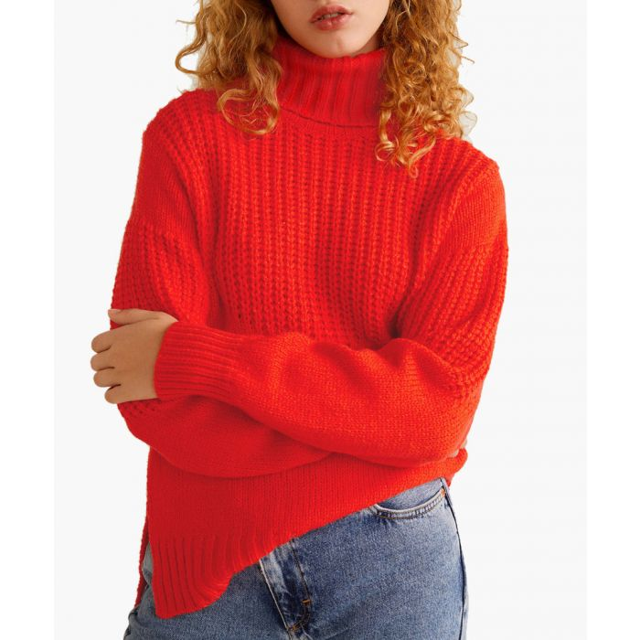 Image for Orange contrasting knit sweater