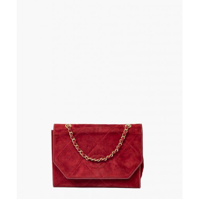 Image for Vintage red hobo clutch