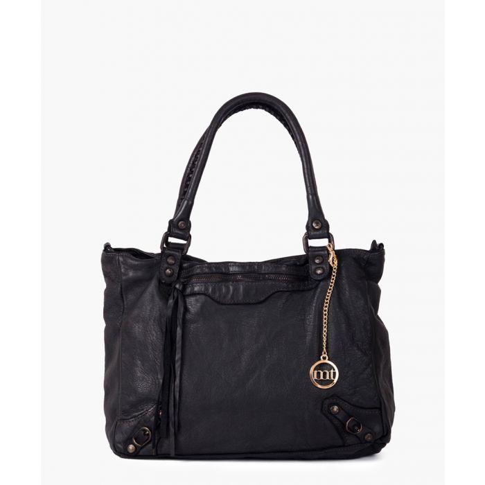 Image for Cinisello black leather shoulder bag