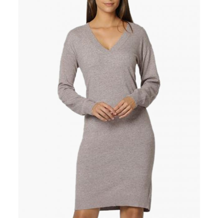 Image for Grey cashmere and silk blend dress