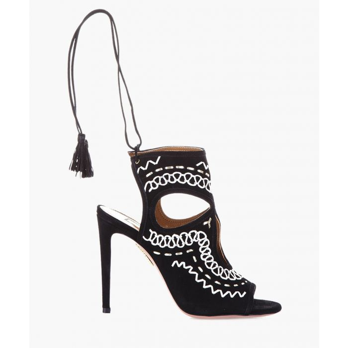 Image for Sexy Thing black leather sandal heels