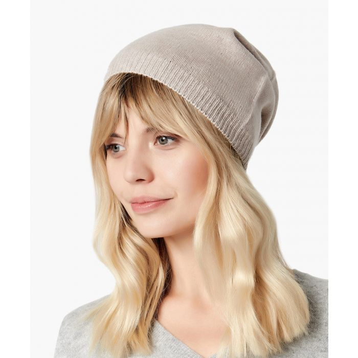 Image for Light camel pure cashmere hat