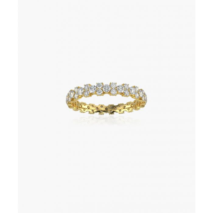 Image for 9k yellow gold and 1.00ct diamond eternity ring