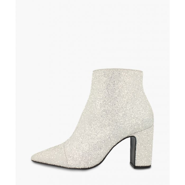 Image for White leather ankle boots