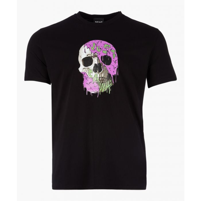 Image for Black cotton skull print T-shirt
