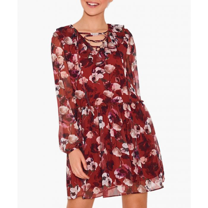 Image for Gia lace-up floral dress