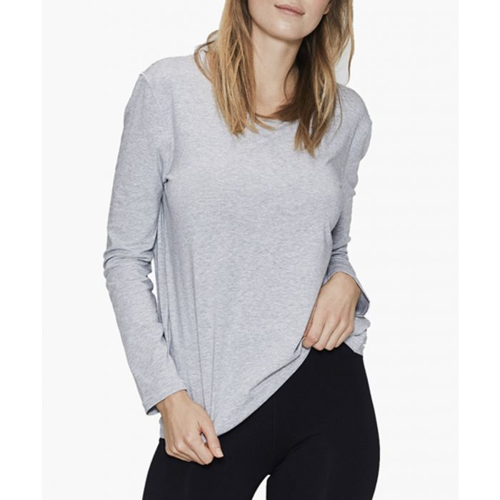 Image for Bamboo viscose and organic cotton blend long sleeve T-shirt