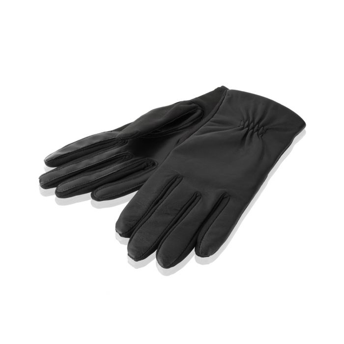 Image for women's black leather gloves