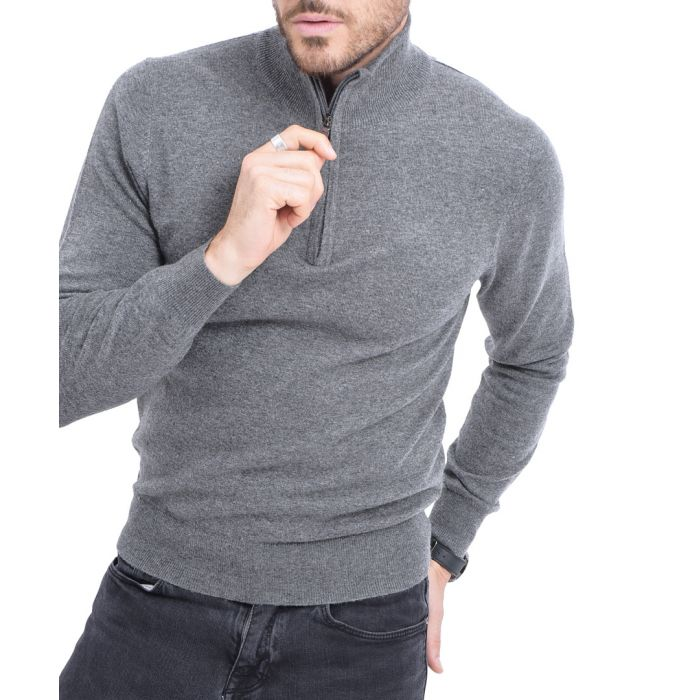 Image for Wolf cashmere blend semi-zip pullover
