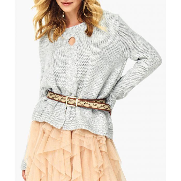 Image for Light grey wool blend jumper
