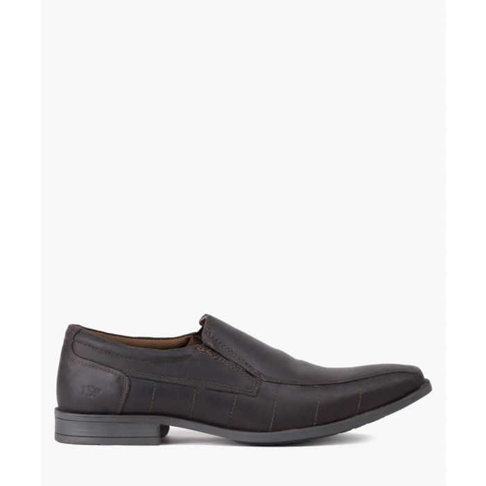 Image for Brown leather slip-on shoes