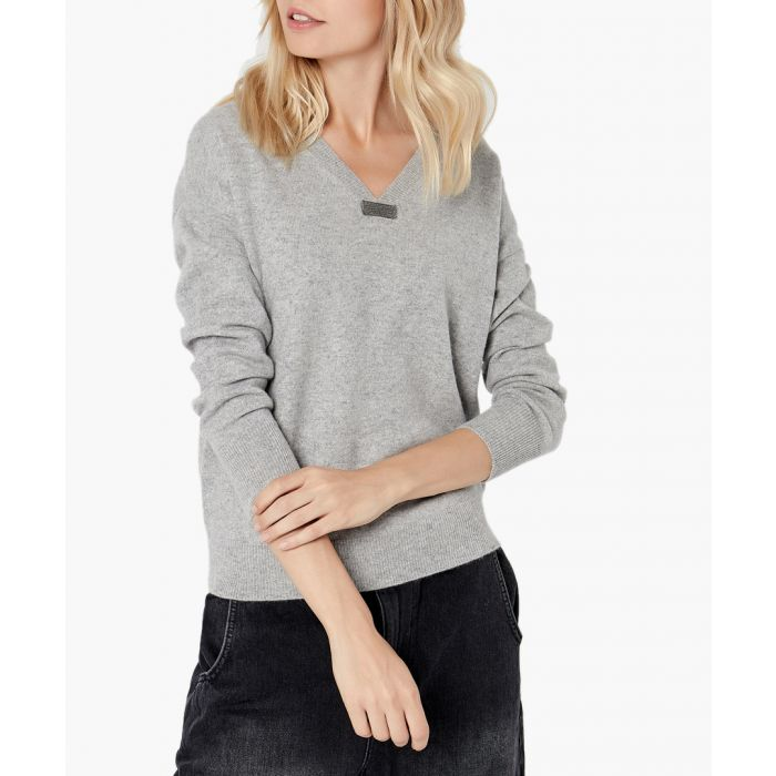 Image for Light grey pure cashmere jumper