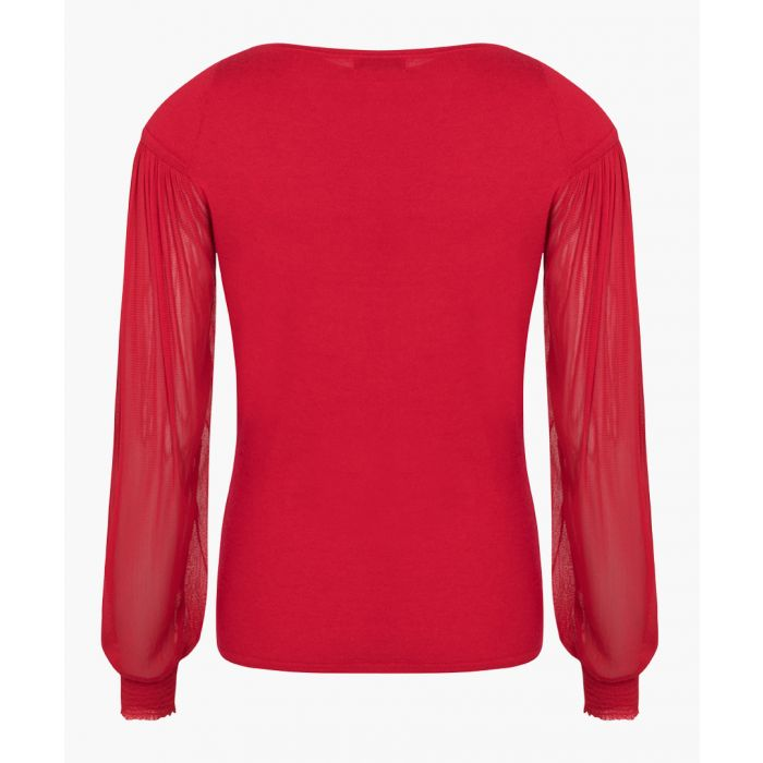 Image for Red pure cashmere top