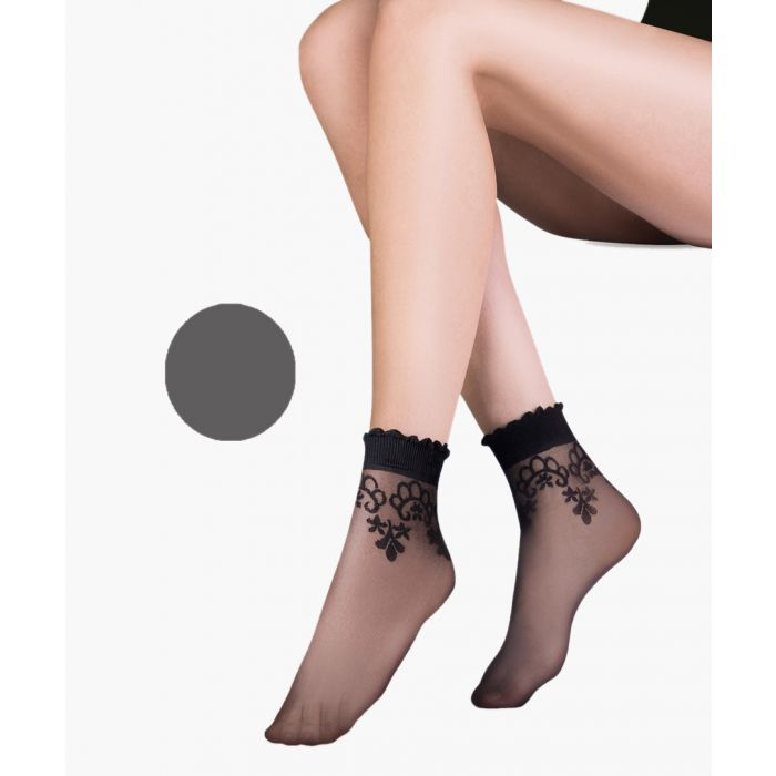 Image for Bea grey ankle socks 20 denier