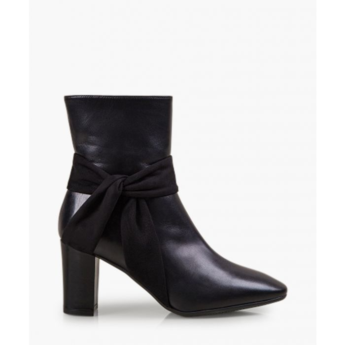 Image for Florence Bloom black patent leather ankle boots