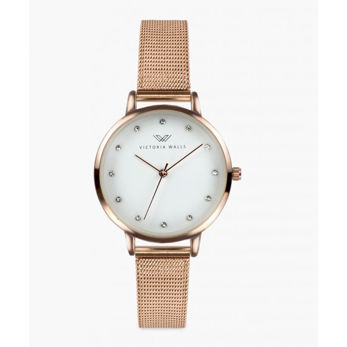 Image for Natali rose gold-plated analogue watch