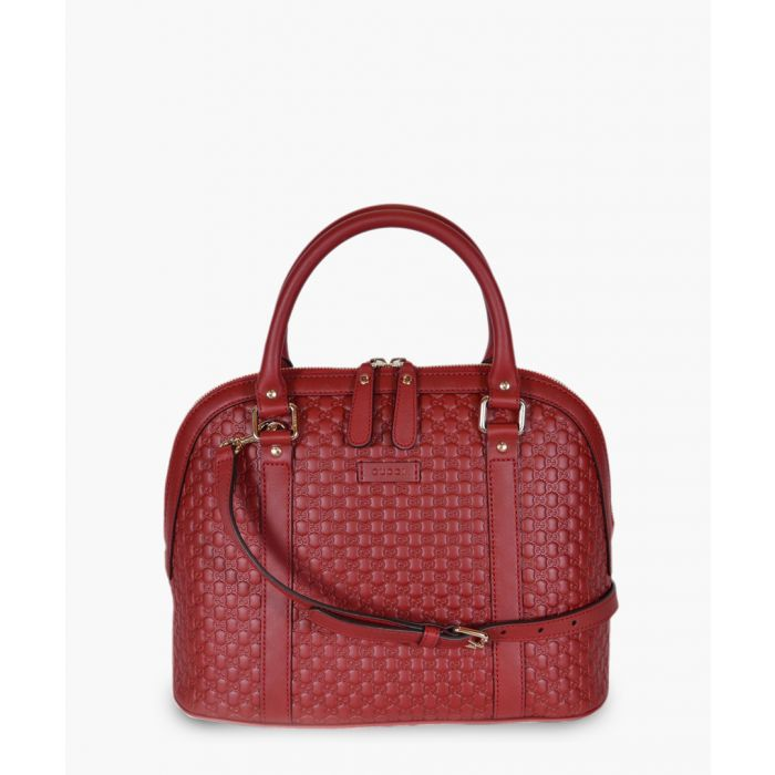 Image for Nice red Microguccissima leather dome tote