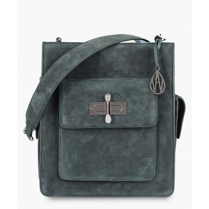 Image for James blue suede crossbody