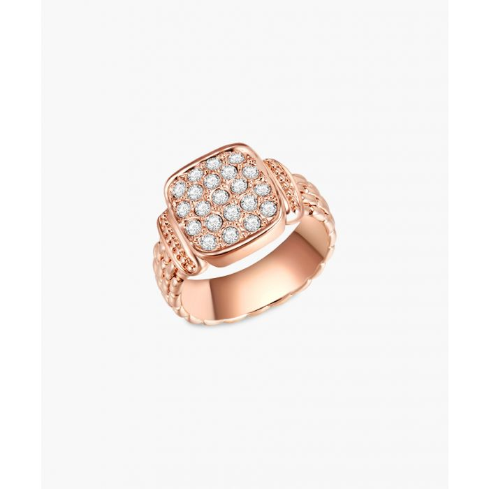 Image for Rose gold-plated, rhodium plated metal and facetted swarovski crystals ring