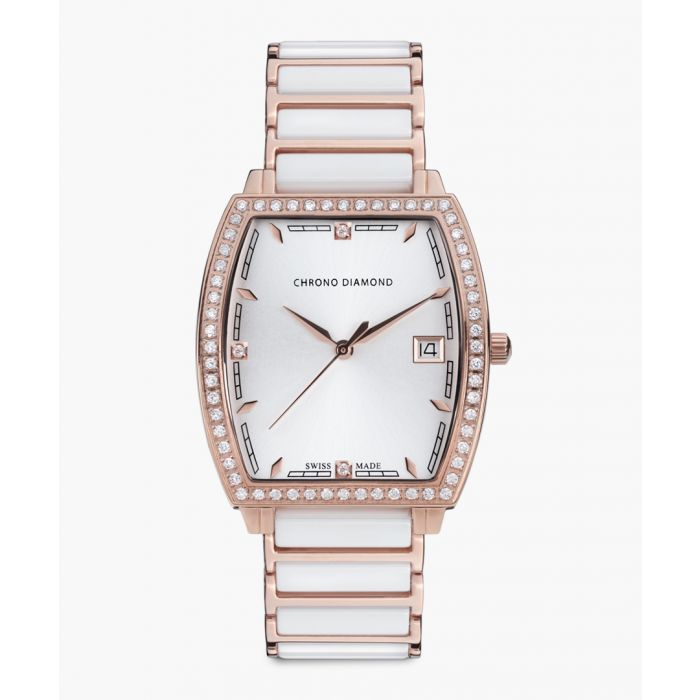 Image for Leandra rose gold-tone watch