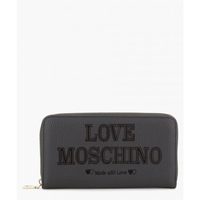 Image for Grey faux-leather bag