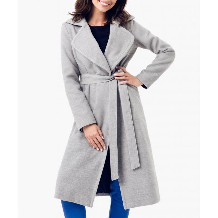 Image for Grey wool blend coat