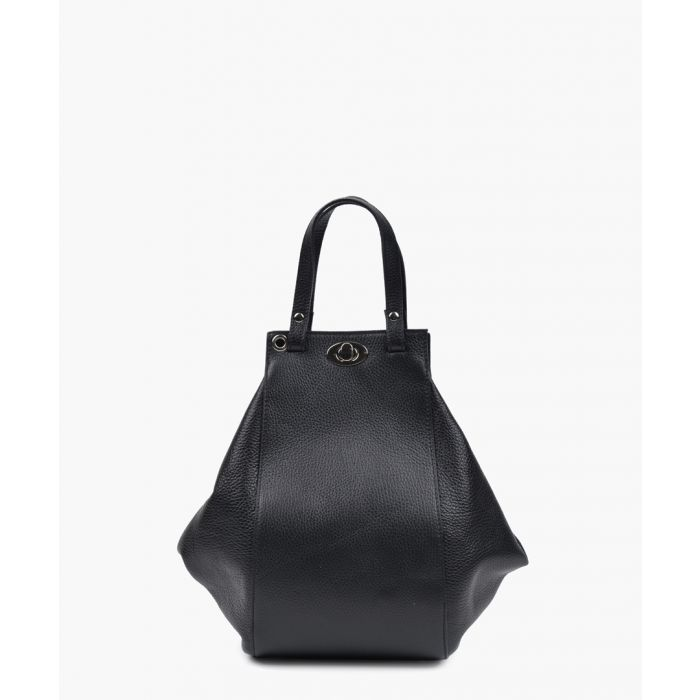 Image for Black top handle shoulder bag
