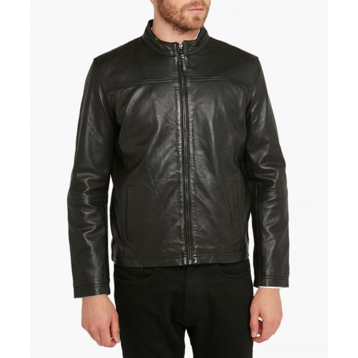 Image for Joyce black leather jacket