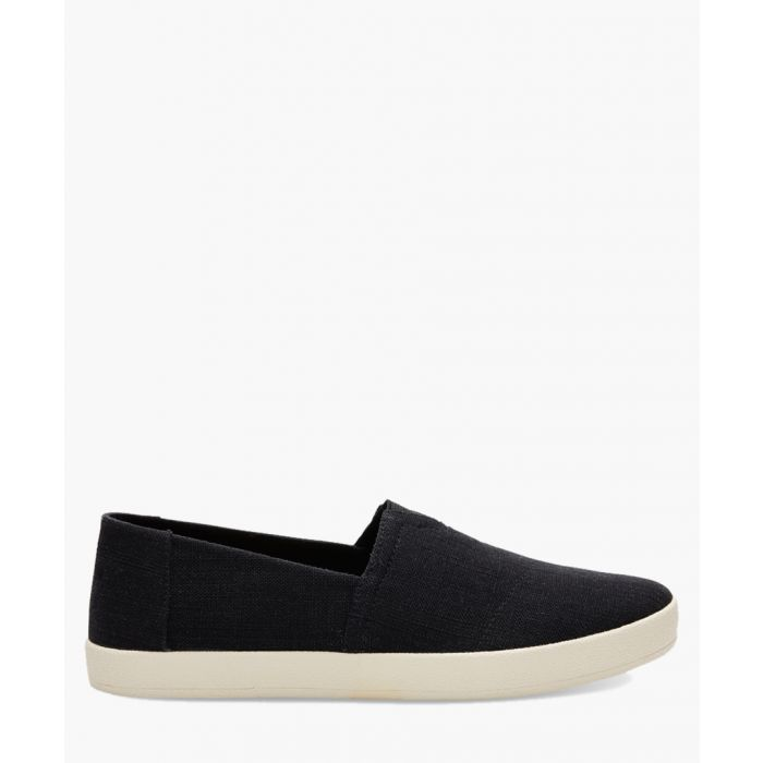 Image for Avalon black canvas shoes
