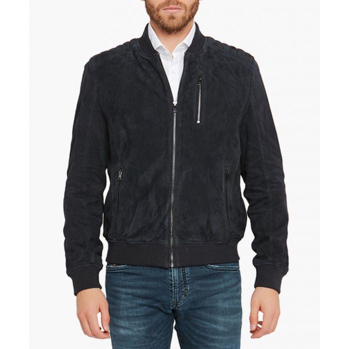 Image for Samuel marine leather jacket