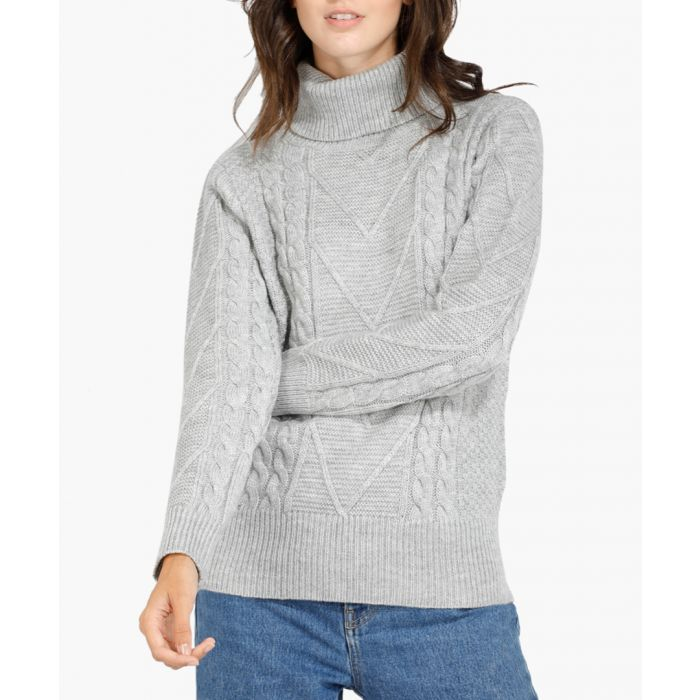 Image for Grey cashmere and mohair blend jumper