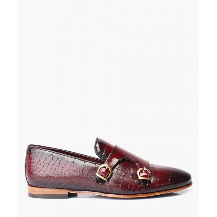 Image for Bordeaux leather  monkstrap shoes