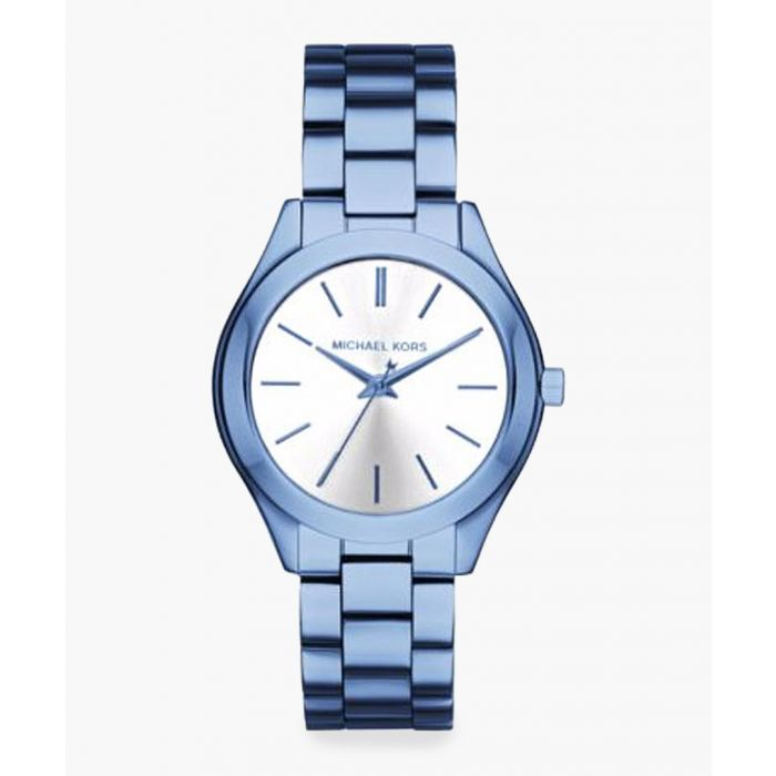 Image for Blue coated stainless steel watch