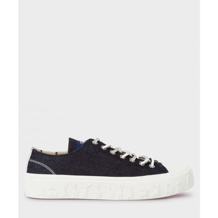 Image for Indigo cotton low-top sneakers