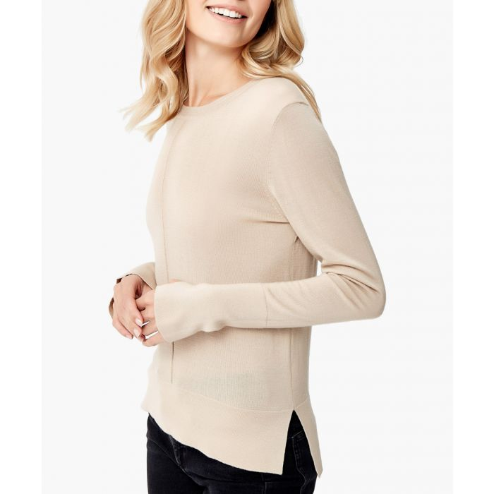 Image for White merino wool pullover
