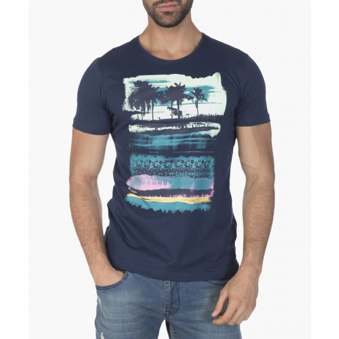 Image for Navy blue cotton T-shirt