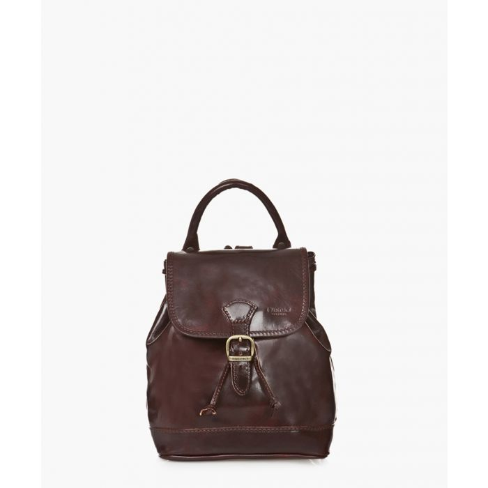 Image for Dark brown leather backpack