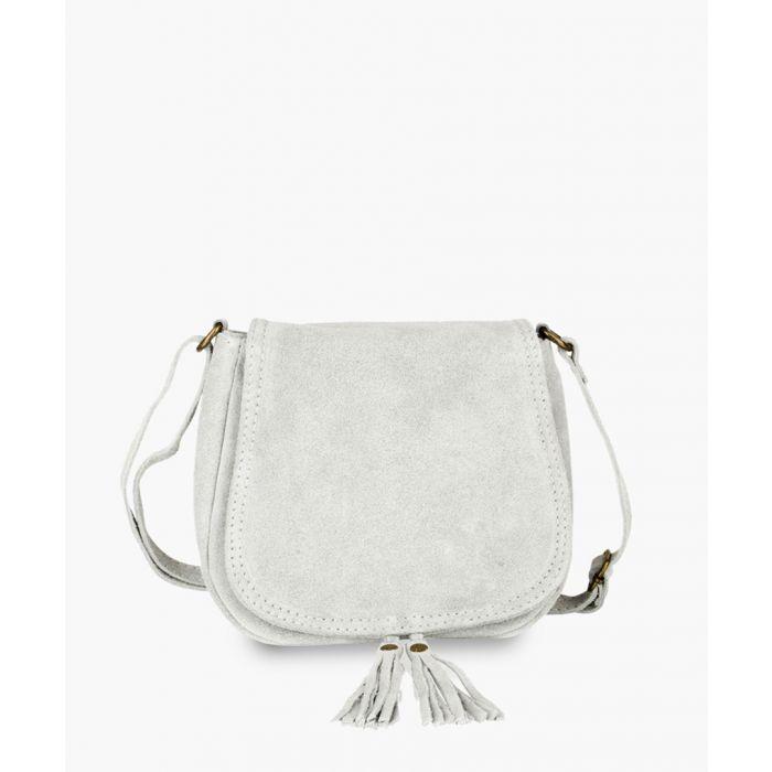 Image for Light grey leather shoulder bag
