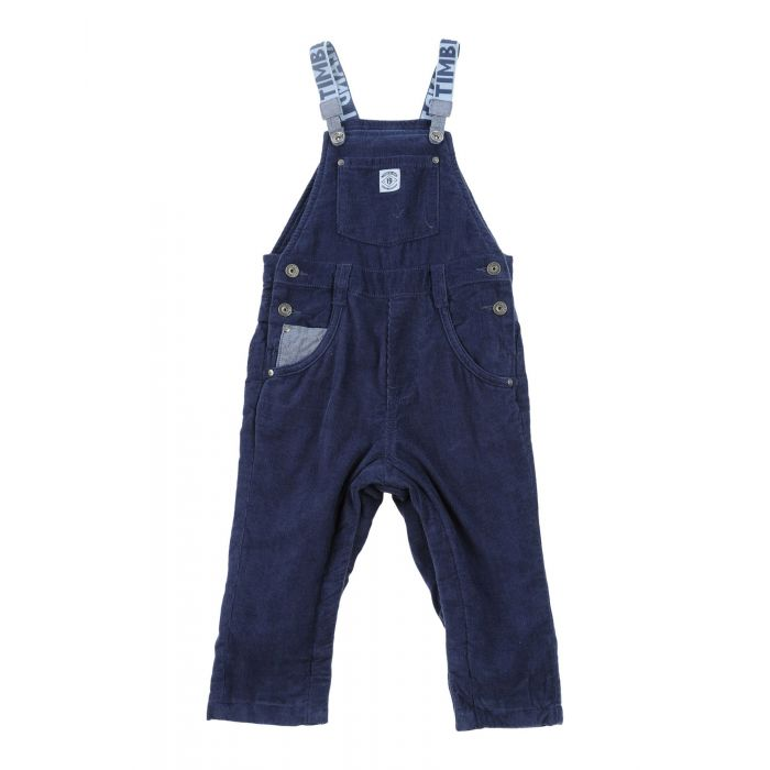 Image for Dark blue cotton baby dungarees