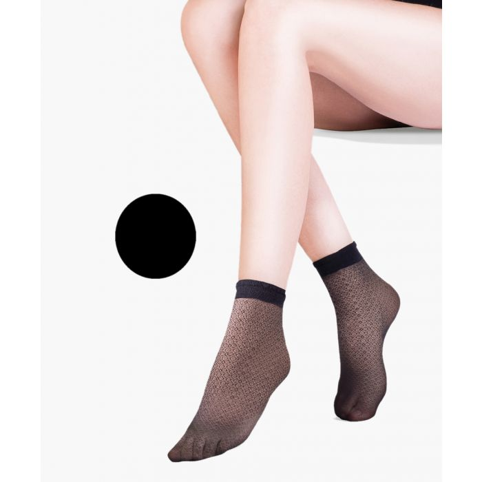 Image for Flo black ankle socks 20 denier