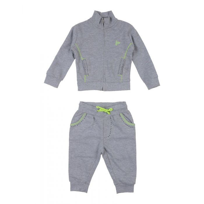 Image for Light grey cotton baby fleece set