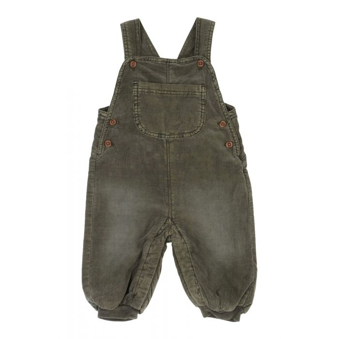 Image for Military green cotton dungarees