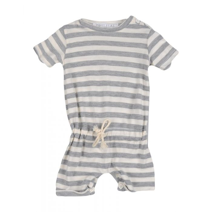 Image for Ivory cotton baby dungarees