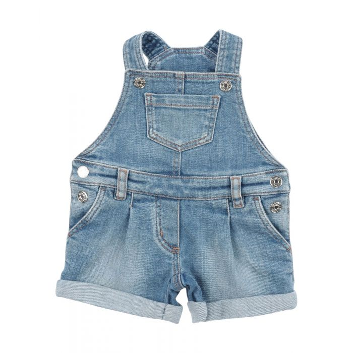 Image for Blue cotton baby dungarees