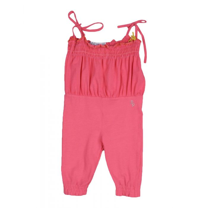 Image for Fuchsia cotton baby dungarees