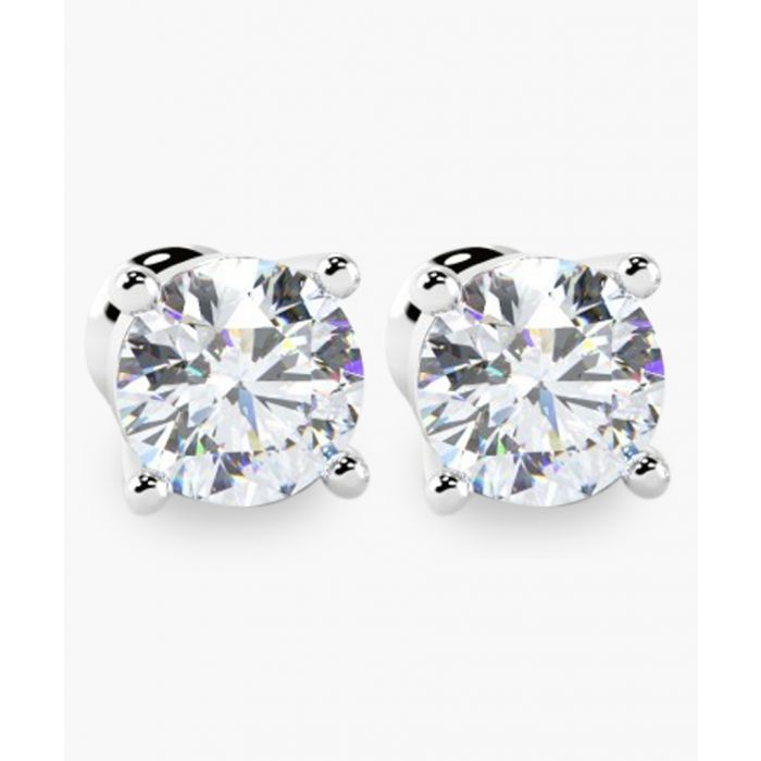 Image for White gold 0.70 ct round diamond stud earrings