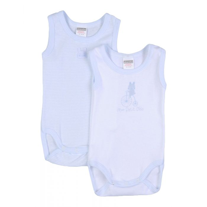 Image for Sky blue sleeveless cotton jersey body