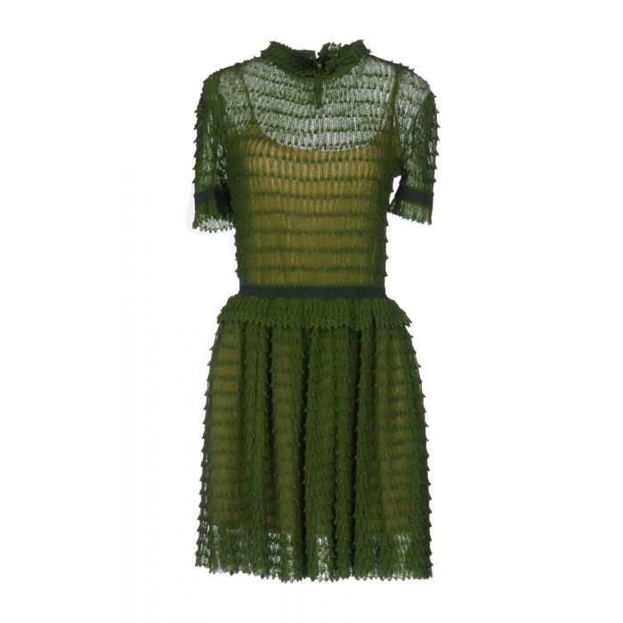 Image for Green wool mini dress